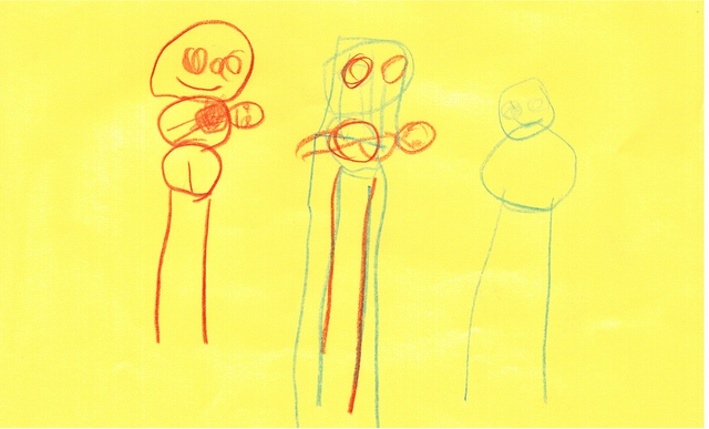 Imetystä_viisi_vuotiaan_piirtämänä