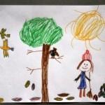 """""""Syksypuuhat"""", Emma 5v Syksyllä voin auttaa äitiä haravoimalla. On mukavaa tehdä siilille lehdistä pesää ja seurata muuttolintujen lentoa."""