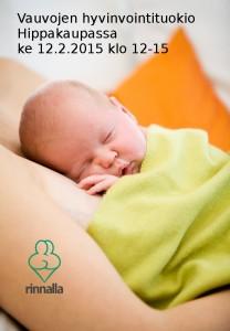 Hippakaupassa, vauvojen hyvinvointituokio ke 12.2.2015 klo 12-15